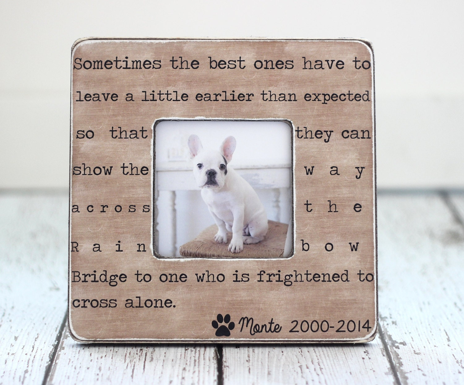 Loss Of A Pet Quote Pet Loss Memorial Pet Sympathy Gift Dog Cat Rainbow Bridge