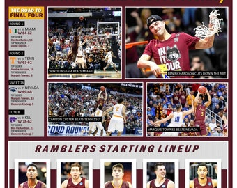 11th Seed Loyola-Chicago Reaches the 2018 Final Four Commemorative Poster