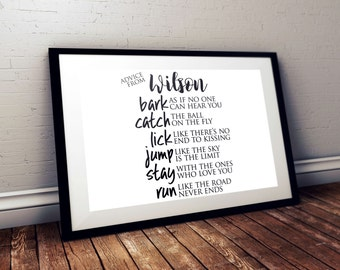 Advice from your Dog Customizable Print   printable, family room, wall art, engineering print
