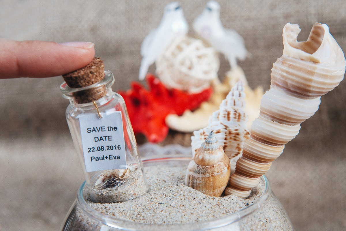 Save the date Beach wedding favors Wedding keepsake Save the