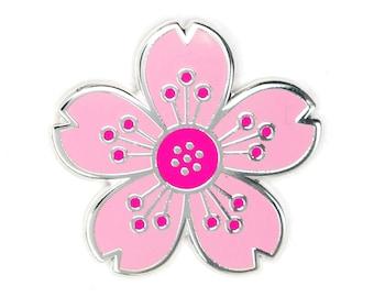 Cherry Blossom Flower Enamel Pin