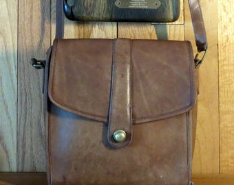 Dads Grads Sale Coach Scout Bag In Tabac Leather with Crossbody Strap- Made In U.S.A. Beautifully Distressed