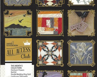 Anita Goodesign, All Access - April 2016 Issue, Machine Embroidery Designs, All Access April 2016