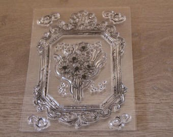 CLEAR FLOWER STAMP