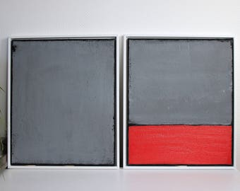 Abstract art, acrylic painting 100 cm x 60 cm title concrete l + ll