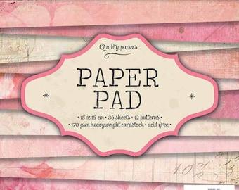 Block paper 15 x 15 - 36feuilles - 170g - soft pink - PPSL35