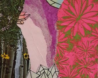 Crystal Garden Paper Collage