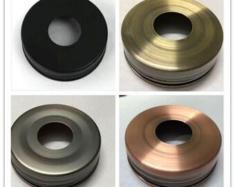 100 Packs Lids for Mason Jar Soap Dispensers Black Brass Copper and Bronze 70mm