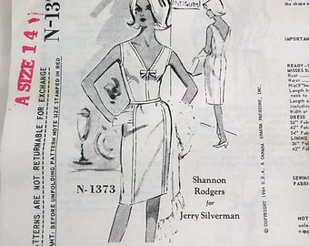 EXTREMELY RARE - Spadea Designer Pattern - N-1373 Shannon Rodgers for Jerry Silverman - Vintage Womens Dress Pattern 1960s Sleeveless