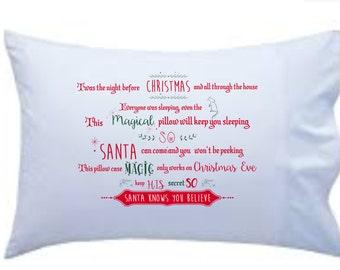 Magical christmas pillow case for kids on Christmas Eve