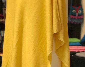 Yellow Cashmere Poncho