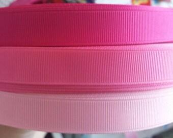 5/8 inch width grosgain ribbon-pinks