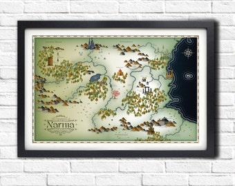 Narnia Map - 19x13 Poster