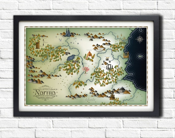 Narnia map 19x13 poster gumiabroncs Image collections