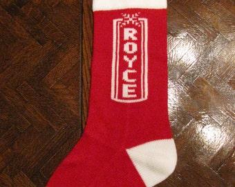 Homemade Personalized Christmas Stockings
