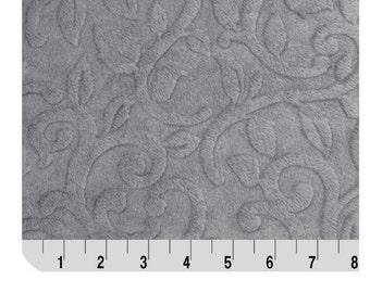 Shannon Fabrics Minky Cuddle Embossed Vine Fabric Plata