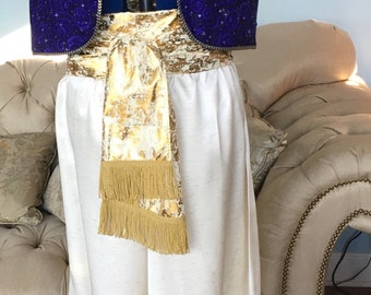 Aladdin/ Genie costume with gold sash