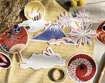 10pcs // JAPAN FESTIVAL // Die Cut Card // DIY Bunting // Mailing Postcards // Tags // Wall Decoration // Art // Bookmark // Wish // Gift