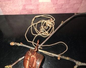 Brown stone chain