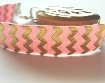 Bellabeat leaf bracelet pink & gold elastic strap bracelet to use with Bellabeat leaf, bellabeat anklet