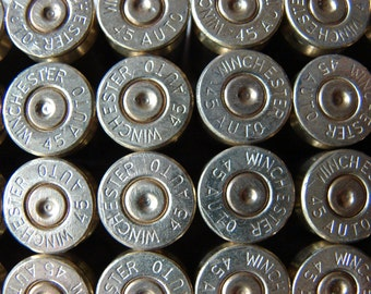 45 Auto Winchester Brass Bullet Shell Casings 45 Auto Ammo – Lot of 50 - Matching Head Stamps