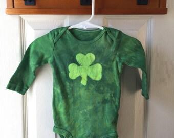 Shamrock Baby Bodysuit, Baby Shamrock Bodysuit, St. Patrick's Day Baby Bodysuit, Green Shamrock Bodysuit, Irish Baby Gift (9 months)