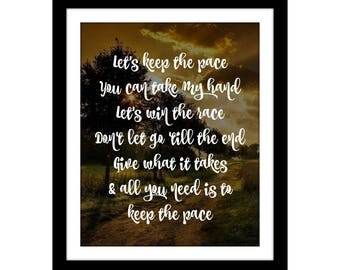 keep the pace song JW | instant digital download