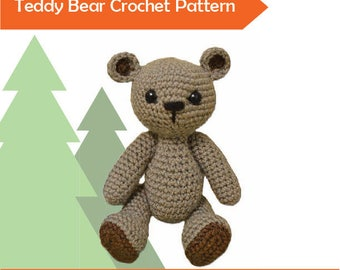 Pattern Small Teddy Bear easy crochet toy (US english and french)