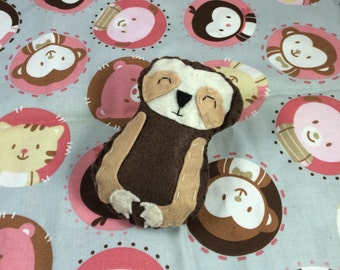 Sleepy Sloth Baby Rattle