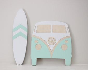 Surf decor etsy for Surfboard craft for kids