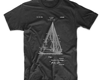 Sailboat Patent T Shirt, Sailboat Shirt, Nautical T Shirt, PP1042