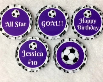 Set Of 50/100/150/200 Personalized Soccer Birthday Party 1 Inch Circle Confetti
