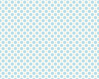 Sew Cherry 2 Circle Aqua - C5805-Aqua by Lori Holt of A Bee in My Bonnet for Riley Blake Designs