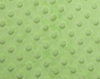 Pastel Green Dimple Dot Minky Blanket Light Lime Sherbet Solid Green Minky Green Blanket Pastel Green Nursery Lime Green Burpcloth