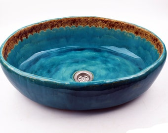 Marika - Oval sink with lace