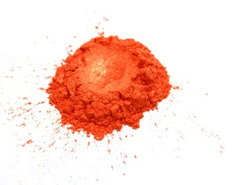 Bright Orange Gold Mica Powder  for Soap Making, Polish Supplies Bath and Body  Handmade Cosmetics Pigment Powder Natural 6712