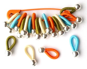 choose Size - soft flexible FLOOPS knitting stitch markers - 'Fayston'