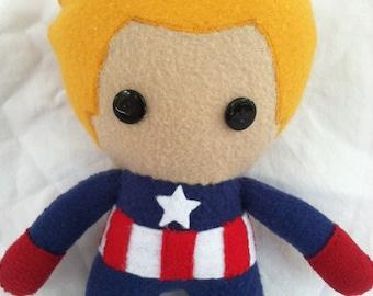 Marvel Captain America Fleece Plush Doll