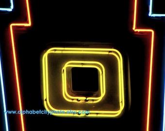 LETTER O No.4 8x10 Horizontal Photo, 1960s DANCEHALL MARQUIS, Alphabet Art Photo Letters