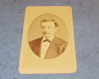 "Antique Small Cabinet Card Photograph-""Boyfriend Frank""-Fernando Dessaur Photographer-New York-FREE SHIPPPING!"