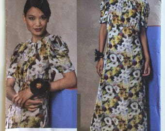 Vogue American Designer sewing pattern 1134 - Anna Sui - Misses' dress size 8-10-12-14