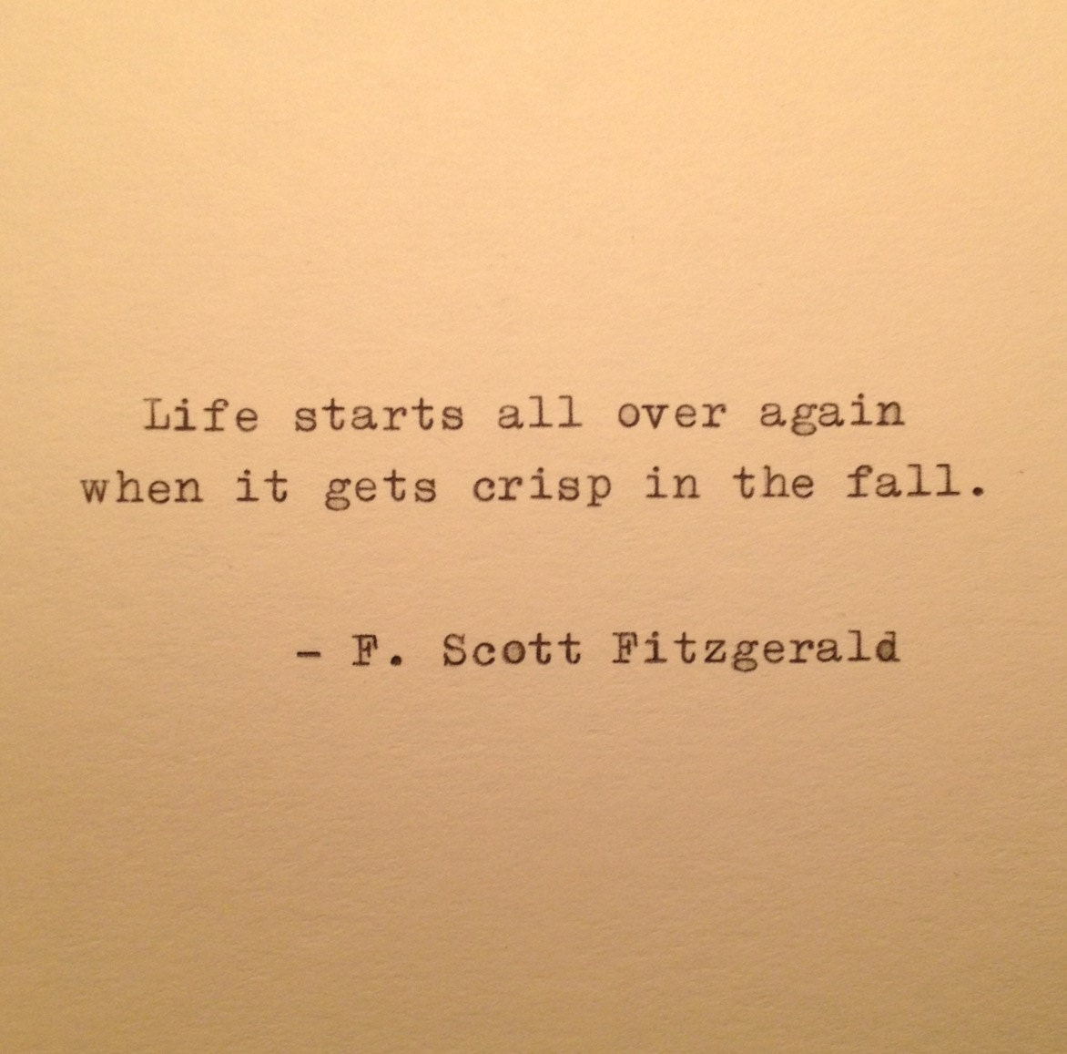 Love Quotes F Scott Fitzgerald Autumn Fitzgerald Quote Typed On Typewriter  Typewriter Quote