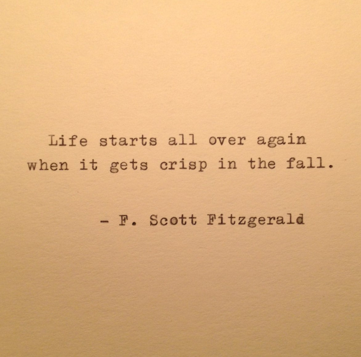 F Scott Fitzgerald Love Quote Autumn Fitzgerald Quote Typed On Typewriter  Typewriter Quote