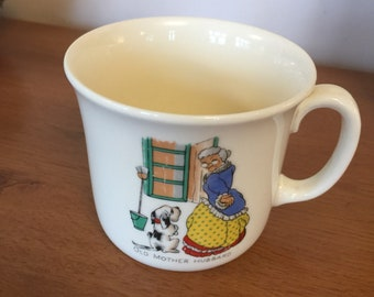 Vintage Old Mother Hubbard mug
