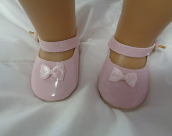Pink Patent Leather Shoes for 18 Inch Dolls- Fits  American Girl Dolls