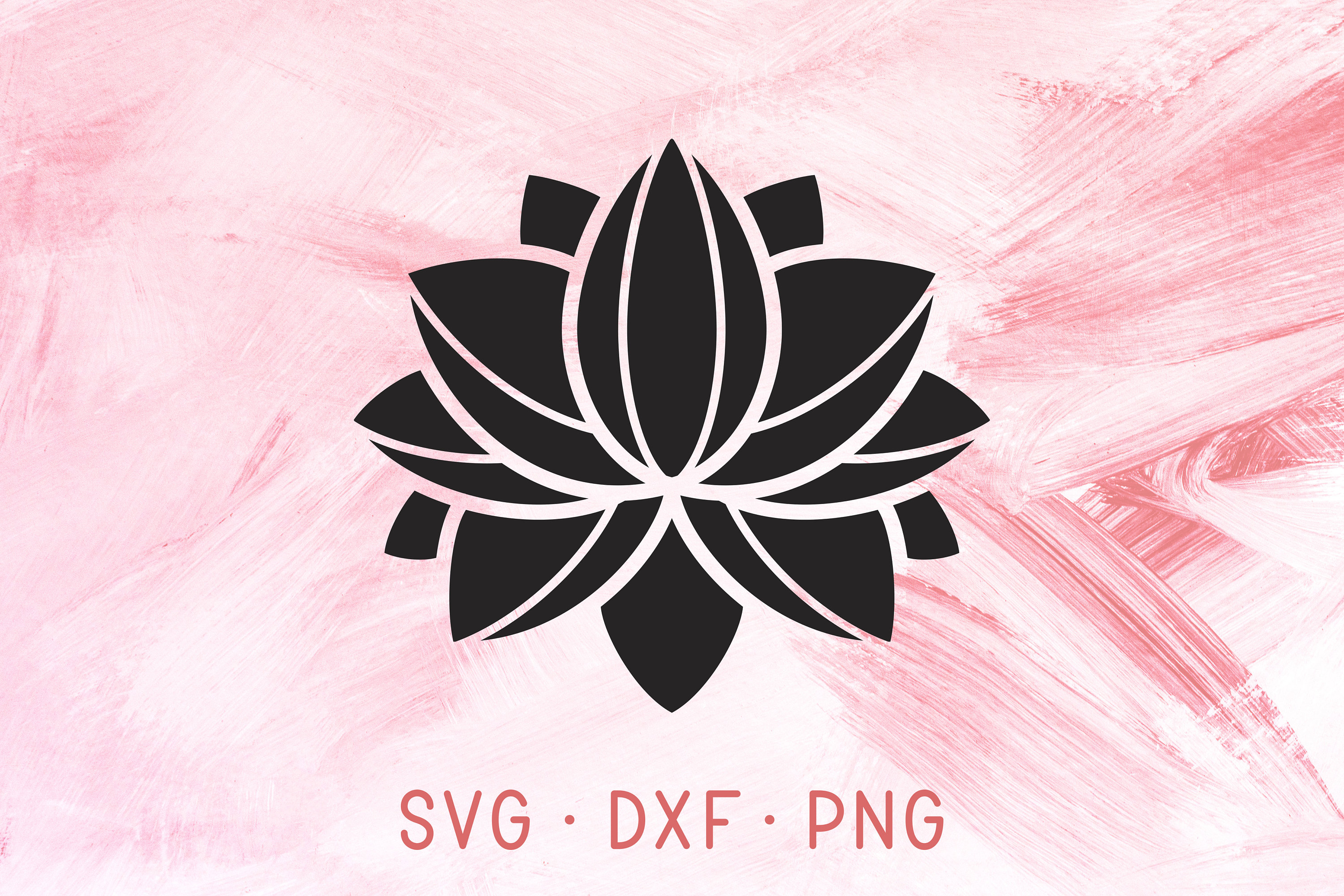 Lotus Flower Svg Dxf Png Cutting Files Mandala Floral Blossom