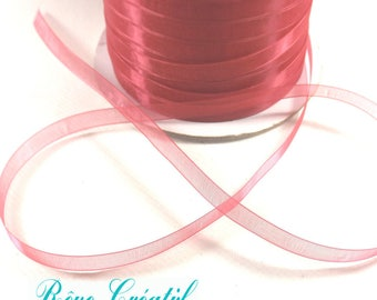 """5 meters Polyester Organza Ribbon, LightCoral, 1/4""""(6mm)"""