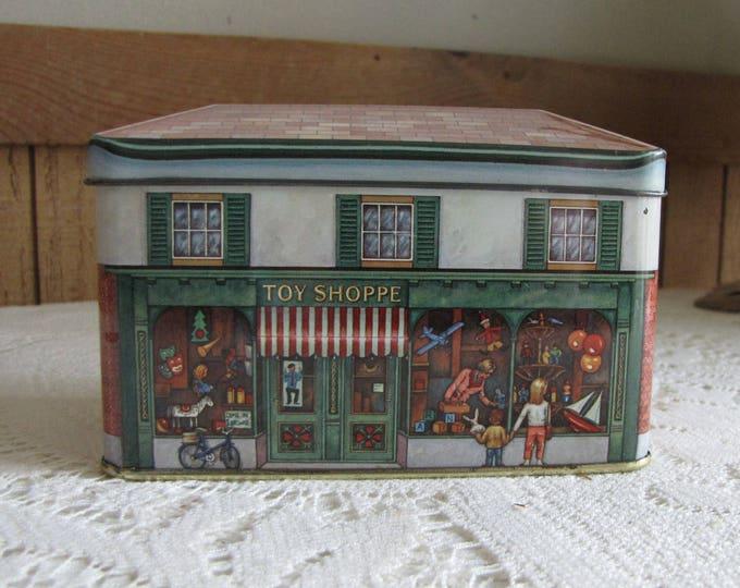Toy Shoppe Tin Daher Designed Small Tea Tin Vintage Storage Boxes and Tins