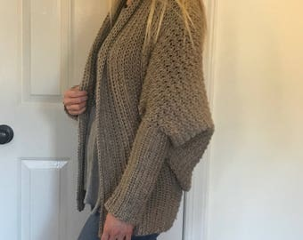 Oversized Crochet Cardigan