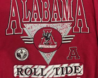 Vintage ALABAMA 80/90s crimson tide roll tide size medium